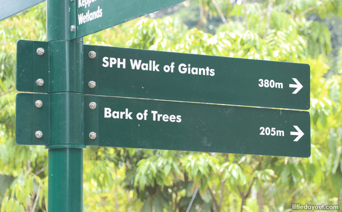 Getting to SPH Walk of Giants from the Keppel Discovery Wetlands