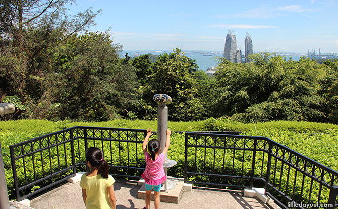 Telescopes pointing at views of Keppel Harbour on Mount Faber Point