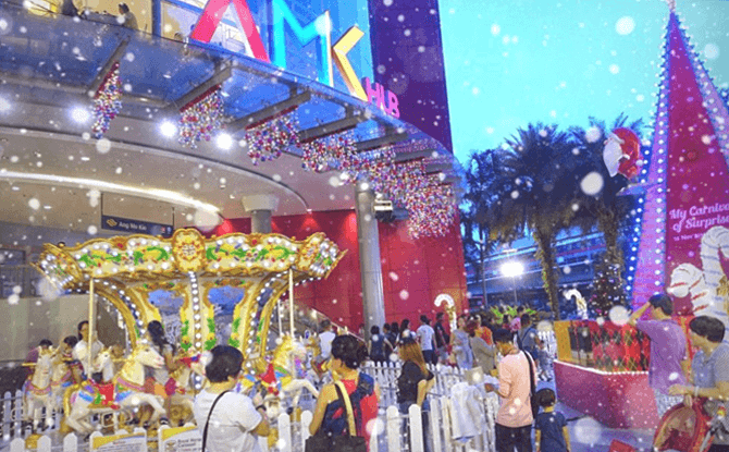 Snow at AMK Hub