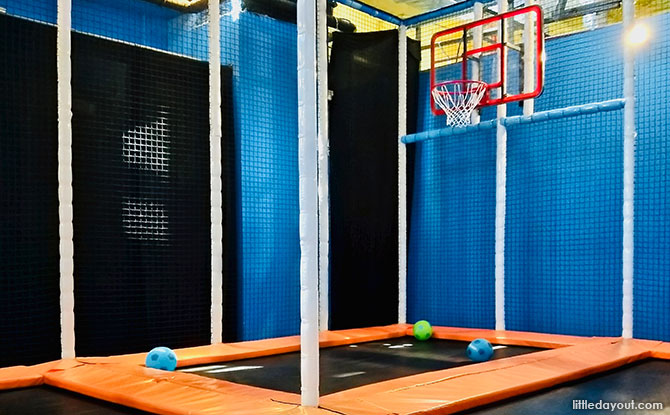 Trampoline Basketball Court