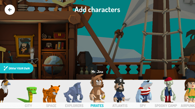 Characters in Toontastic 3D