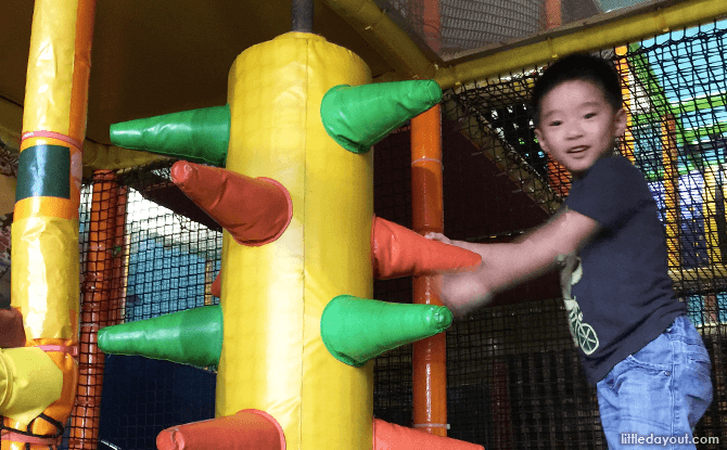Kungfu Wooden Obstacle at Amazonia Indoor Playground at Great World City, Singapore