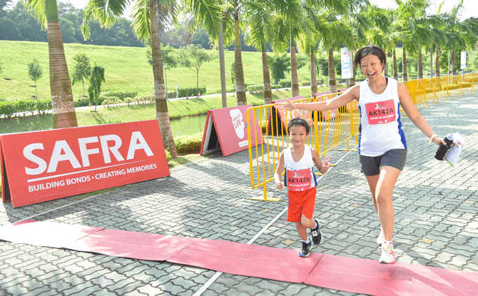 Crossing the finish line at the SAFRA Punggol Waterway Challenge
