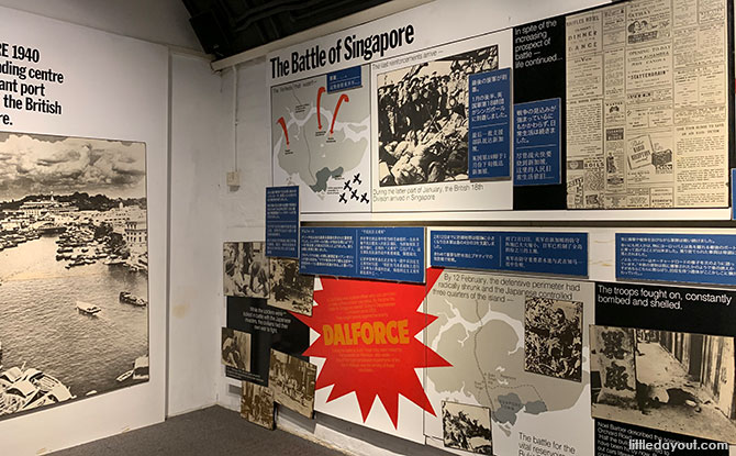 Exhibition at the Casemates at Fort Siloso