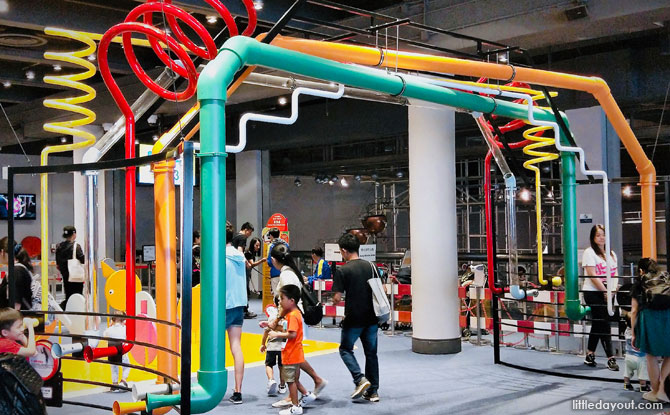 Massive telephony system made out of pipes
