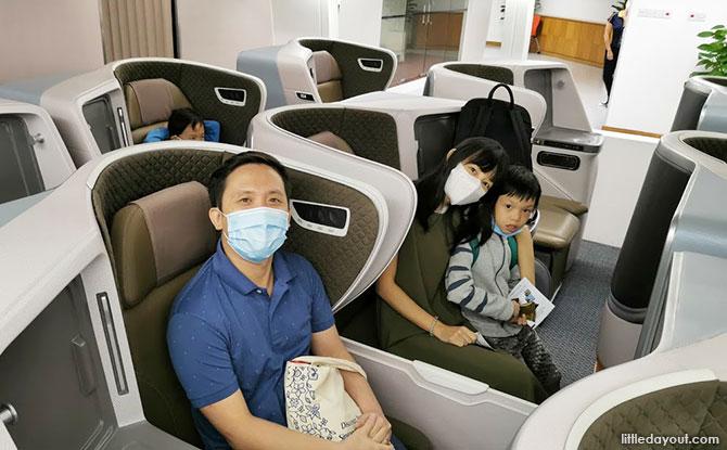 Mock-ups of airplane interiors