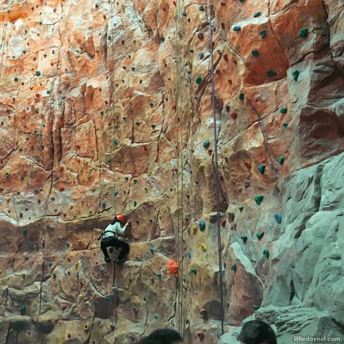 21-meter rock climbing wall, Sun World Resort, Bana Hills, Vietnam