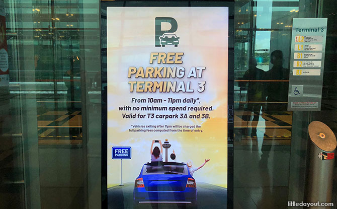 Free Parking at Changi Airport T3