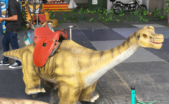 Saddle up and ride a dinosaur