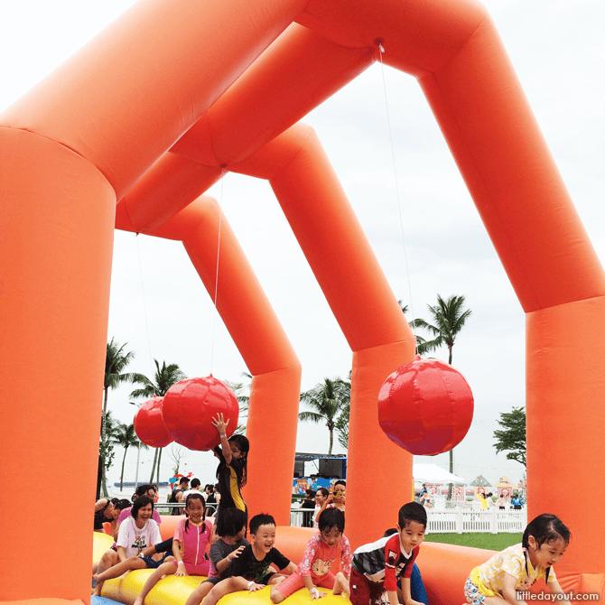Sentosa FunFest 2016 inflatable balance beam