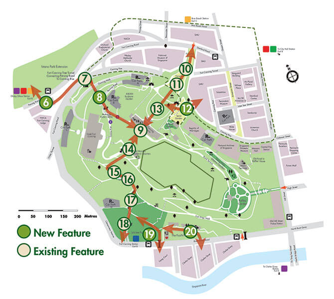 Map of Fort Canning Park