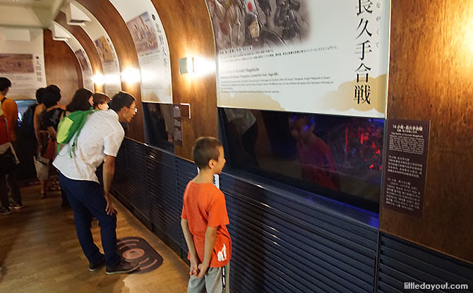 Inside the museum at Osaka Castle