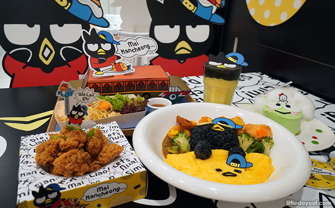 Bad badtz-maru and Gudetama Café