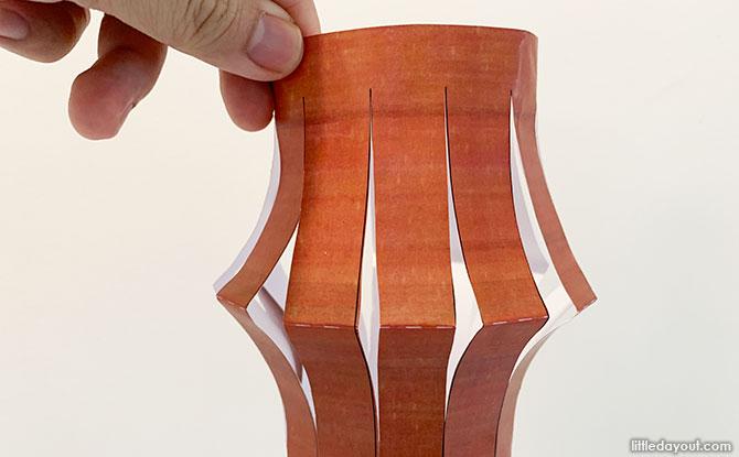 Paper Lantern Shape Template