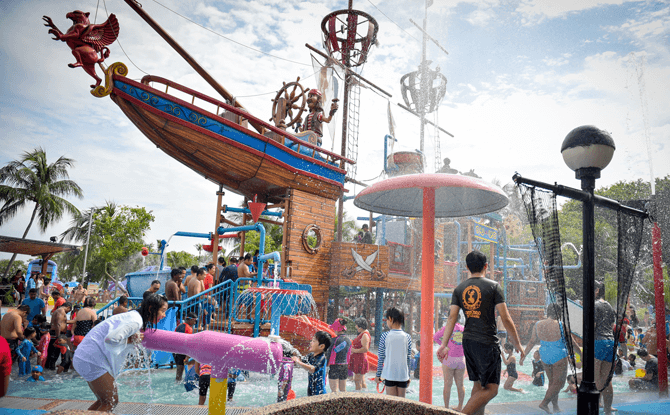 Palawan Pirate Ship water playground