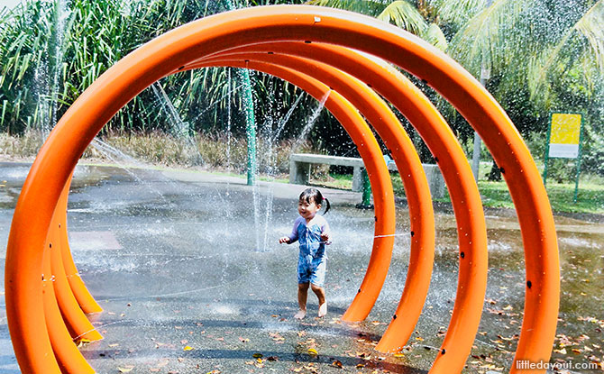 Playing at Punggol Waterway Park