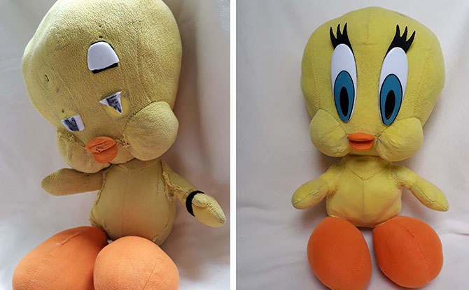 Restoring an old soft toy in Singapore