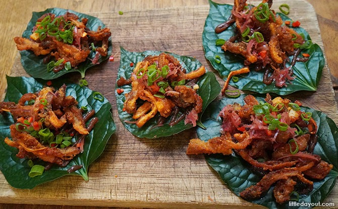 Crispy Pig's Ears in a red dates sauce - The Butcher's Wife