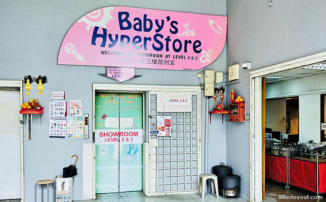 Massive pink signboard at Baby HyperStore