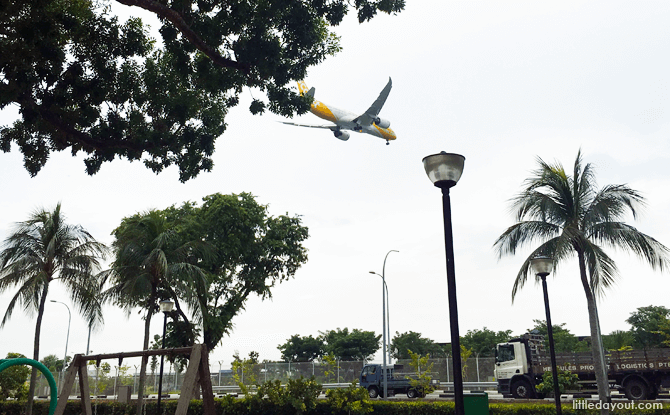 Plane Spotting, Changi Beach Park