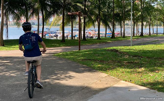 Cycling at Kallang Basin