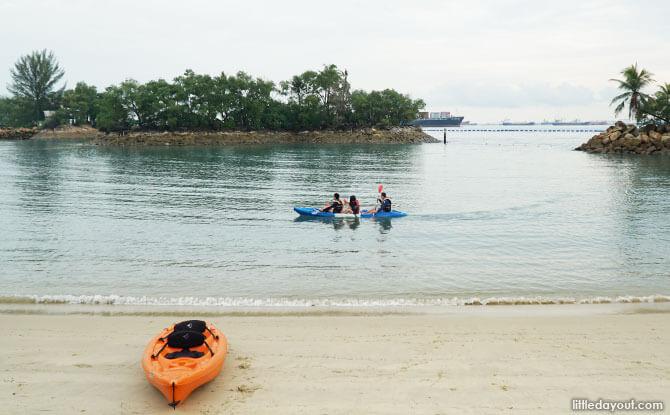 Kayaking at Rasa Sentosa Resort
