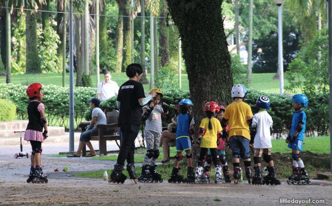 Skating around Punggol Park