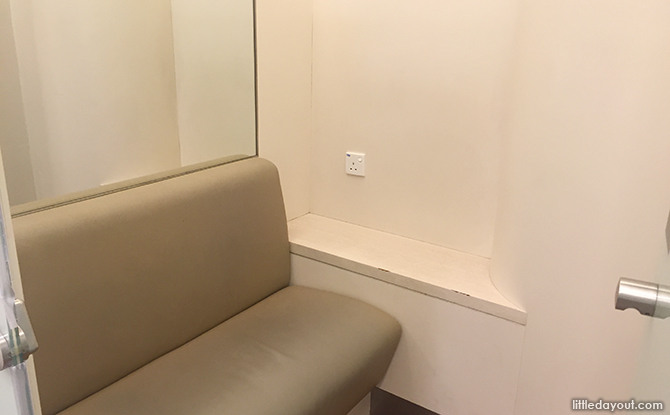 cushioned bench and plug