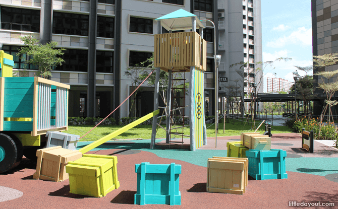 Crates at the Truck Playground