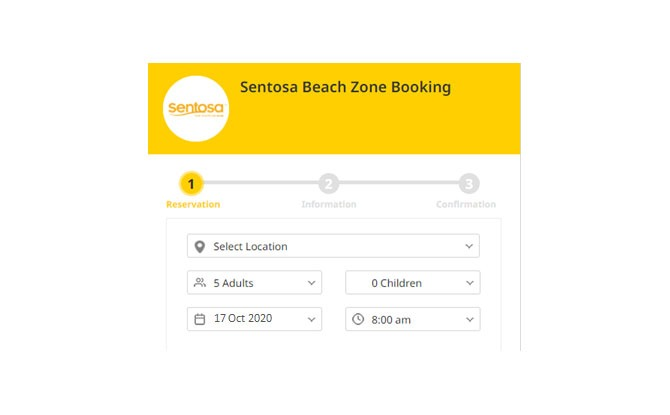 Entry Process For Reservation-Only Beach Entry at Sentosa