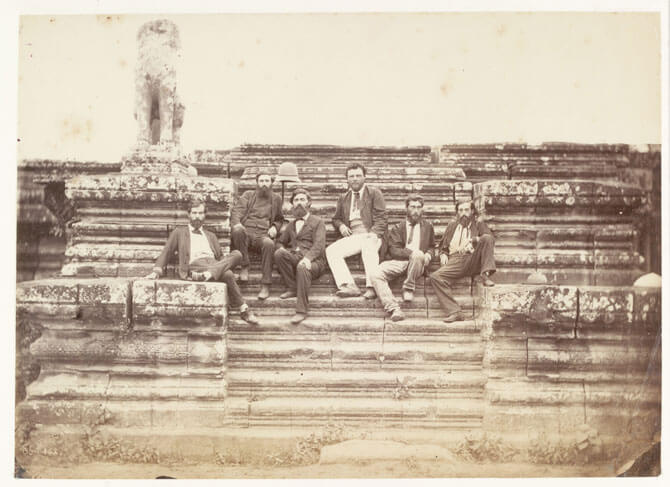 e1 Members of the 1866 Mekong Exploration Commission at Angkor Wat
