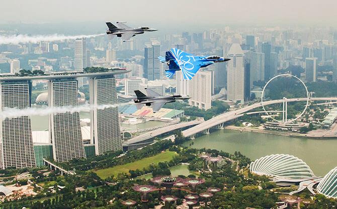 RSAF50@Marina Barrage: Aerial Displays On The National Day Weekend