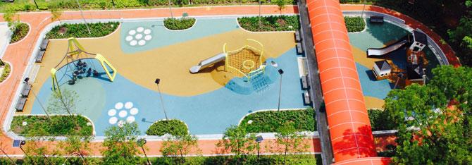 Yishun Green interactive playground aerial
