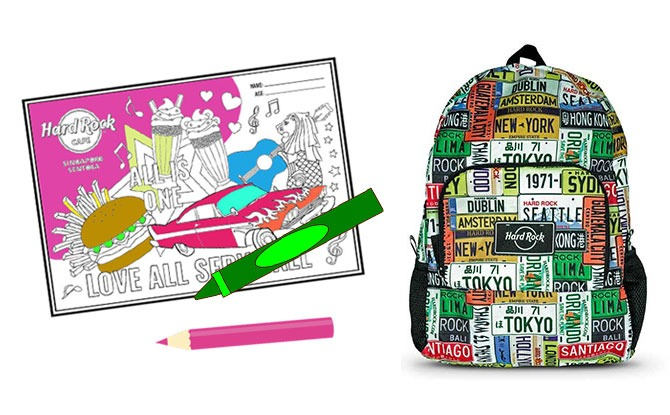 Take Part In Hard Rock Café's Colouring Contest For Chance To Win Cool Backpack & Plush Toy