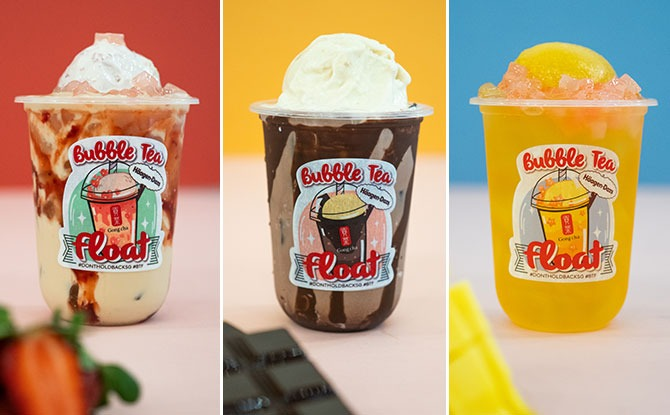 Gong Cha x Häagen-Dazs Bubble Tea Floats: Caramel Choc, Berry-Tea & Sunshine Mango