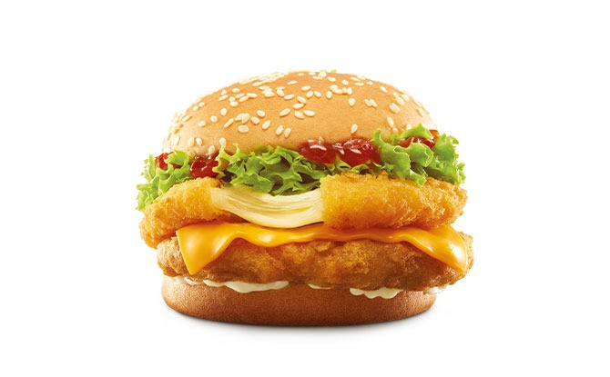 Chick 'N' Cheese Burger from McDonald's