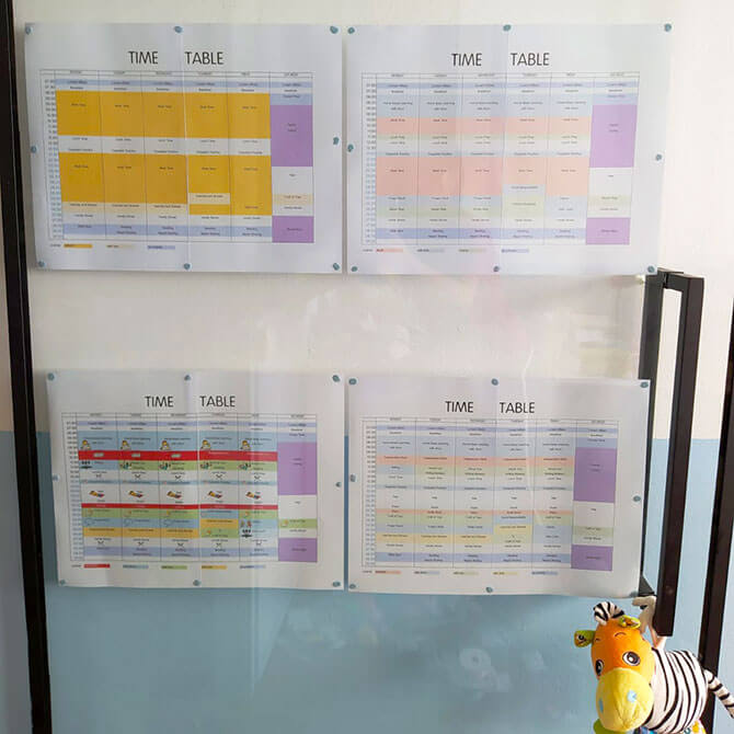 Time table at Home