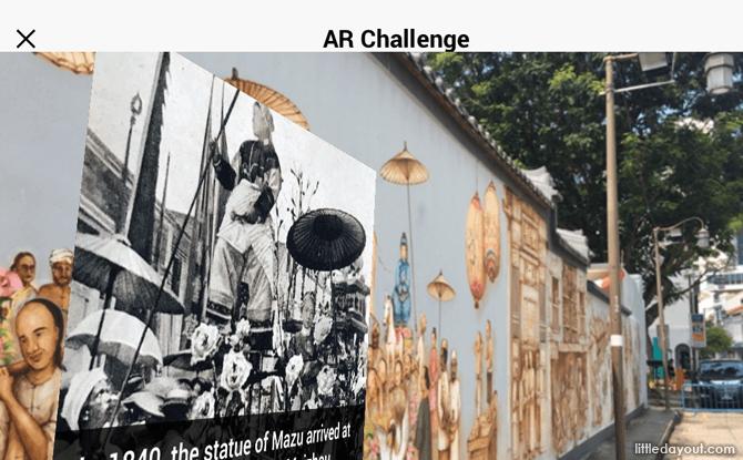 Augmented Reality Content at Thian Hock Keng Mural