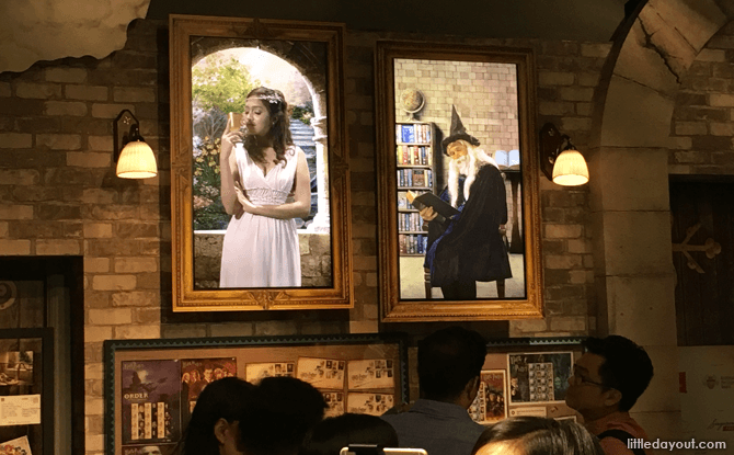 Interactive Portraits at Harry Potter Exhibition at Singapore Philatelic Museum