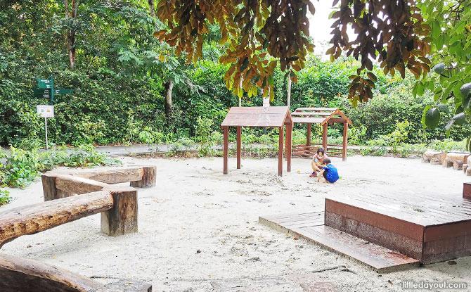 Sand playground at Jacob Ballas CG - Things to do