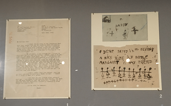 Letters on display at the Syonan Gallery