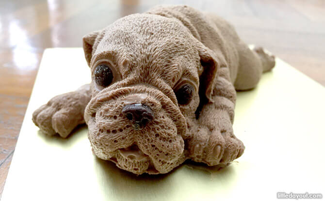Can you bear to eat this Shar Pei Puppy Cake?