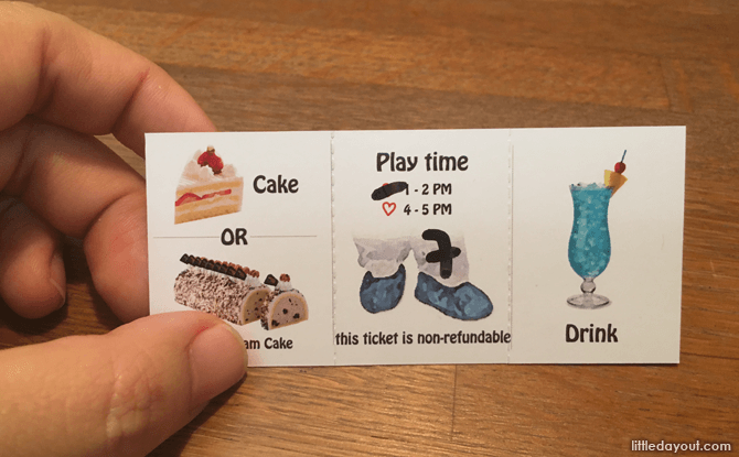 Admission to True Love Cafe comes with a slice of cake, drink and play time.