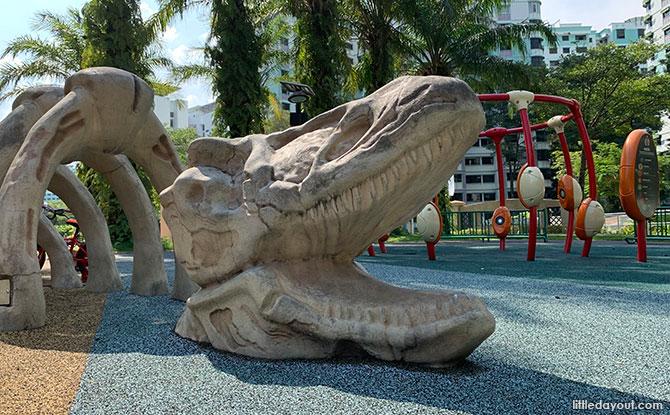 Dino Play Structure at Canberra Park, Sembawang