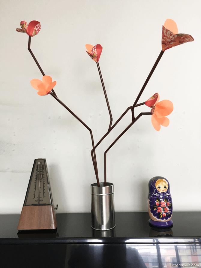 Plum Blossom Chinese New Year Craft Idea