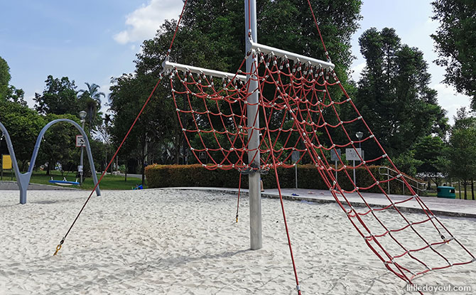 Sand play and Pendulum Swings for the Little Ones