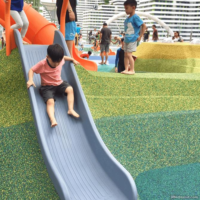 Waterway Point playground toddler slide