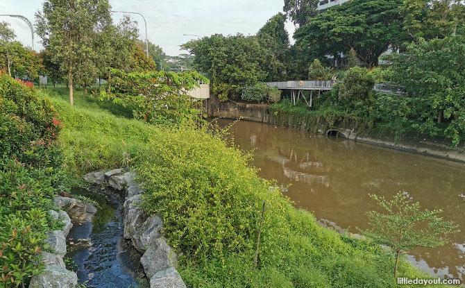 View along the Ulu Pandan Canal