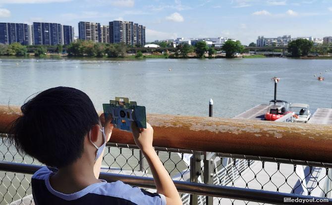 Using the foldscope at Jurong Lake Gardens