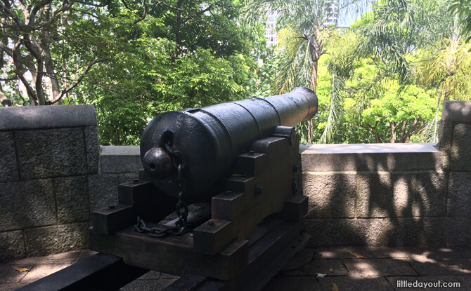 Cannon, Fort Canning Park